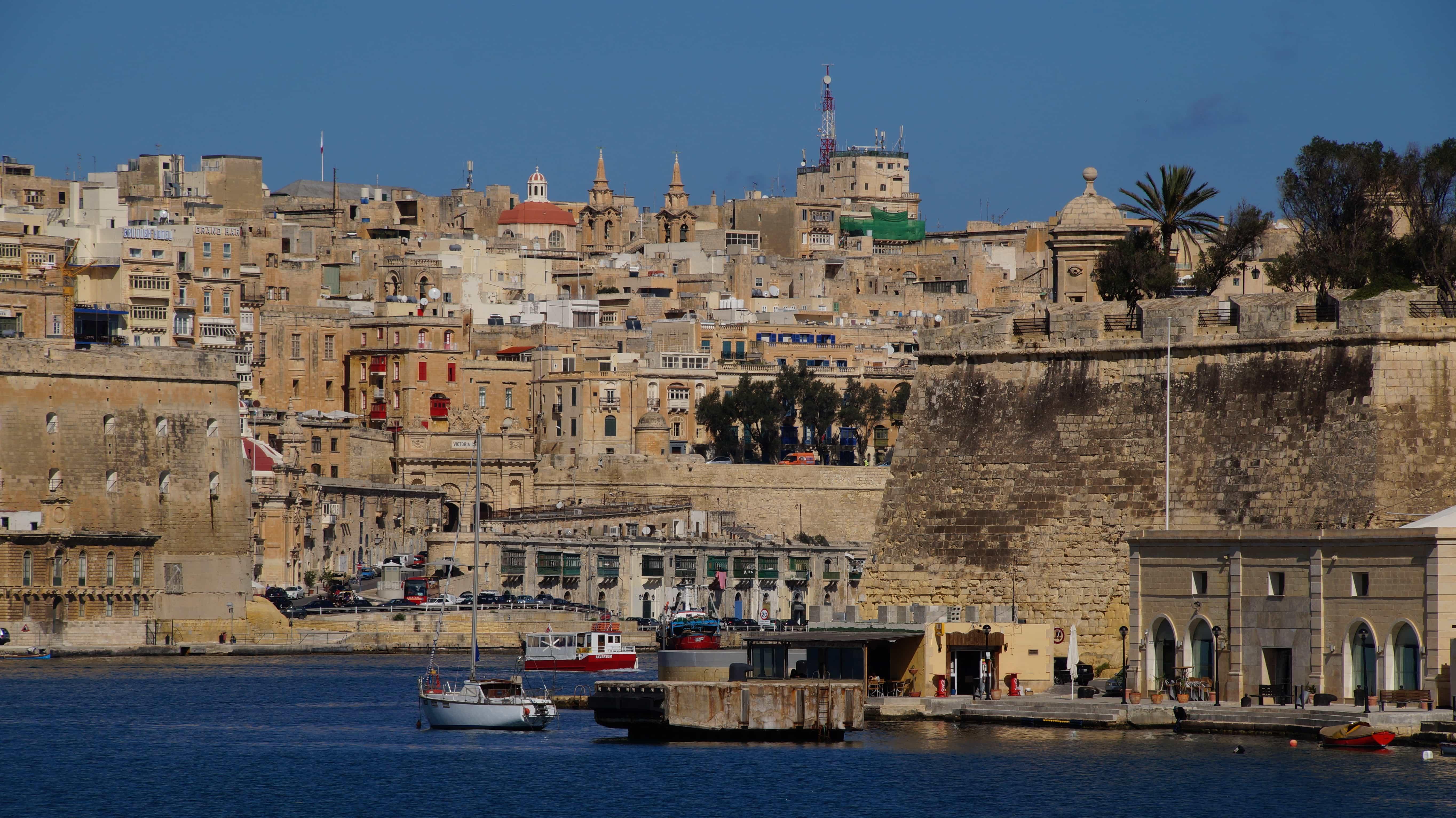 Blick auf die Stadt Valetta in Malta