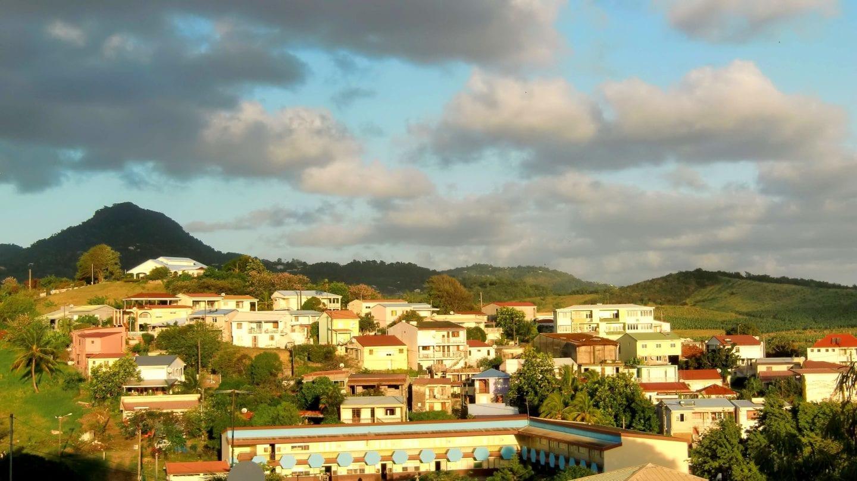 Blick aus unserer Unterkunft in Le Vauclin auf Martinique