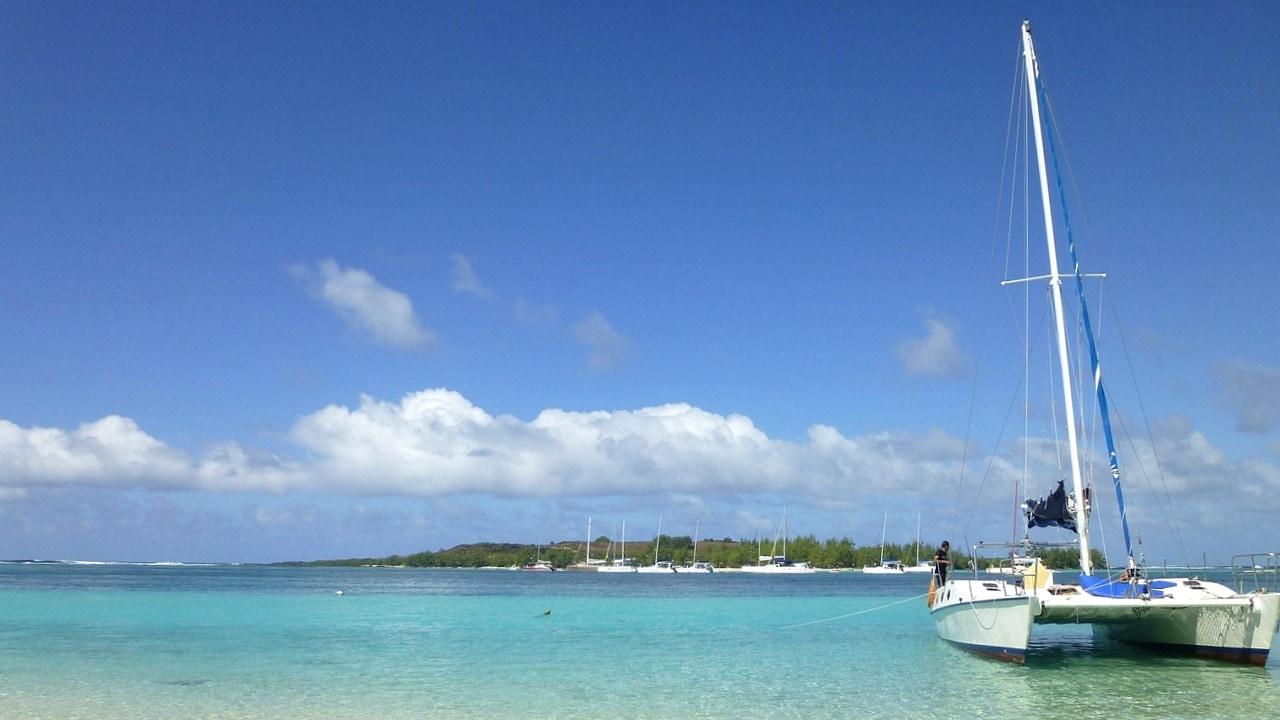 Catamaran auf Mauritius