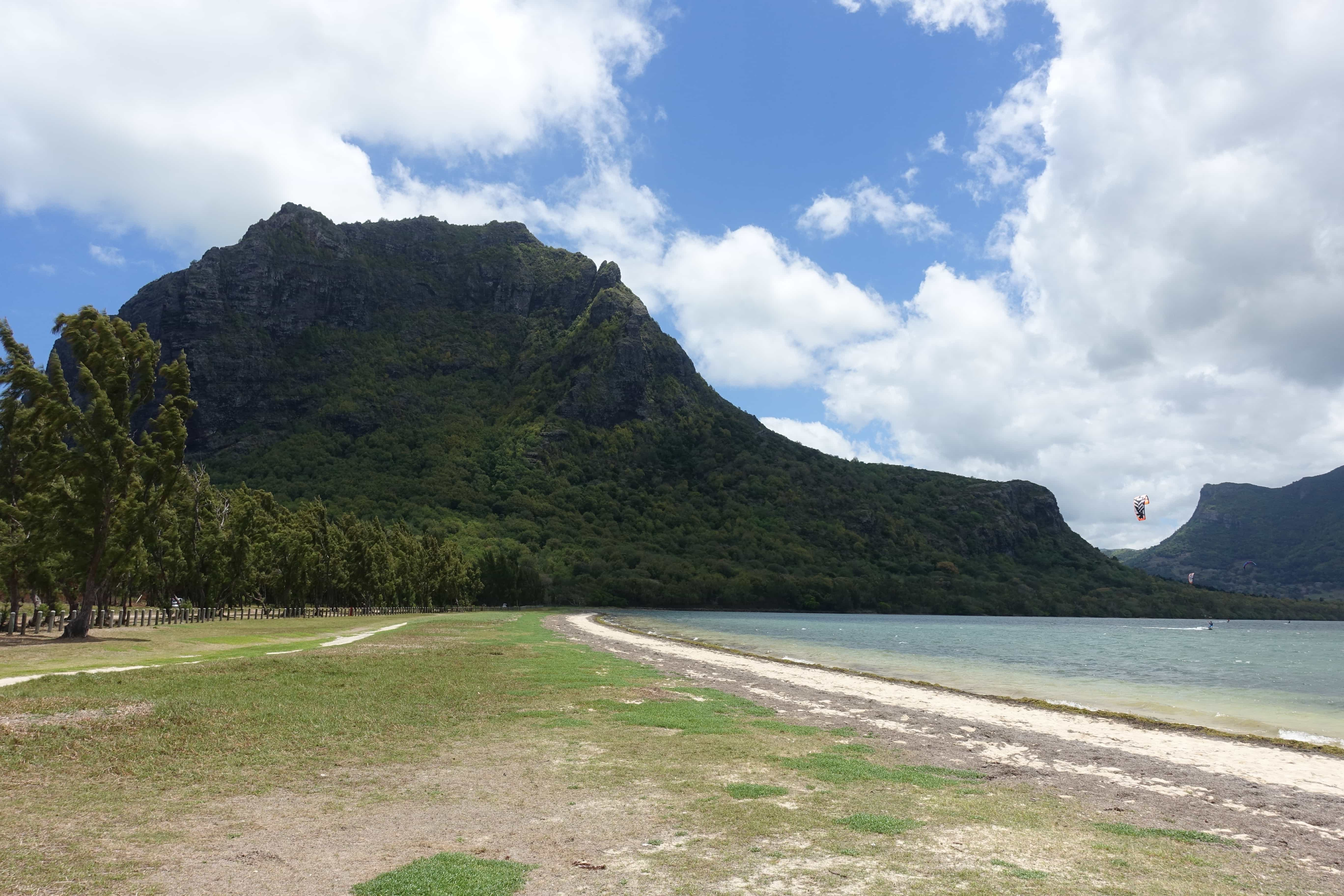 Lagune vor Le Morne in Mauritius