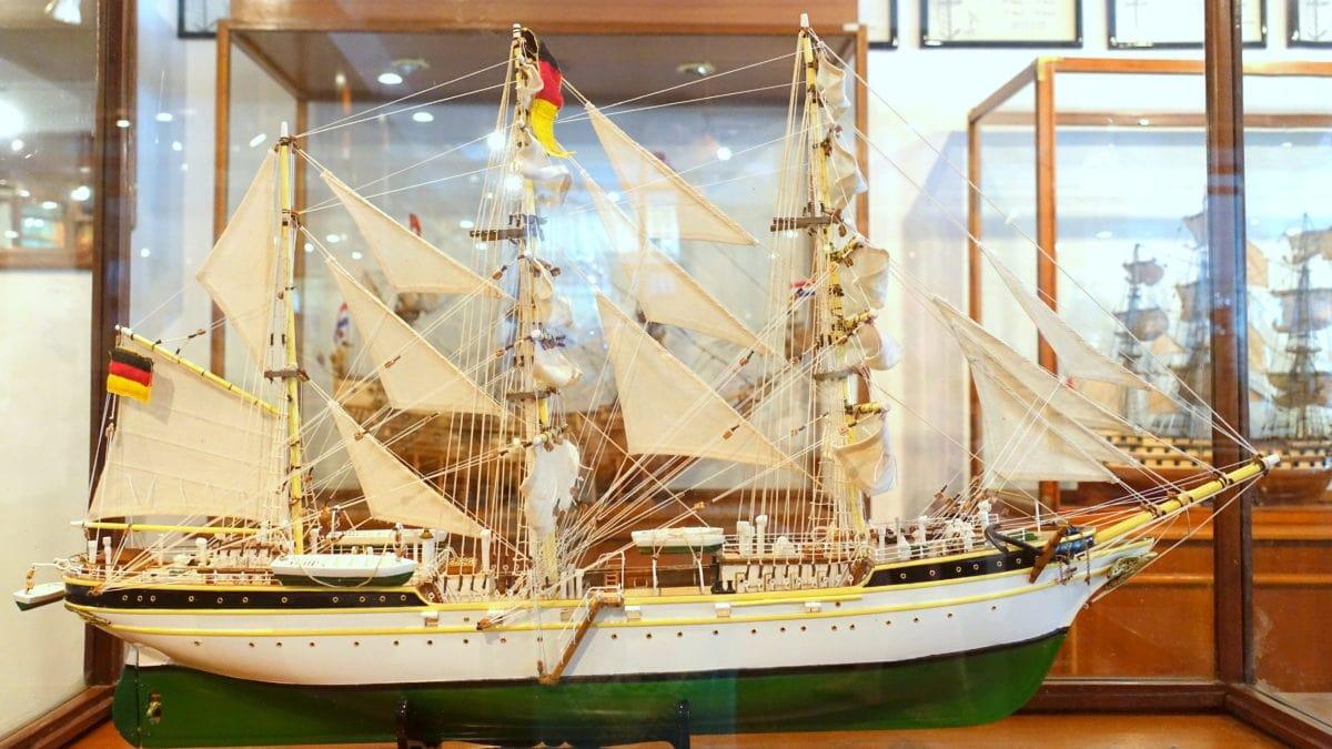 Auch die Gorch Fock aus Hamburg steht im Historic Marine auf Mauritius