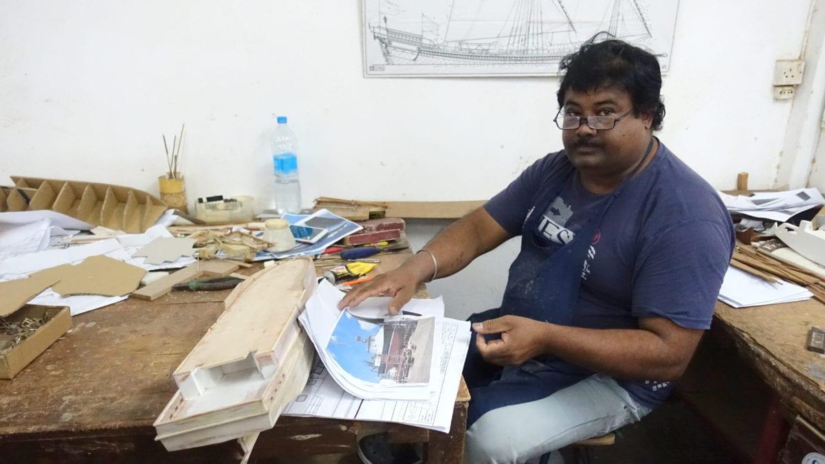 Die Modellbauschiffe im Historic Marine auf Mauritius werden nach den Originalplänen gefertigt