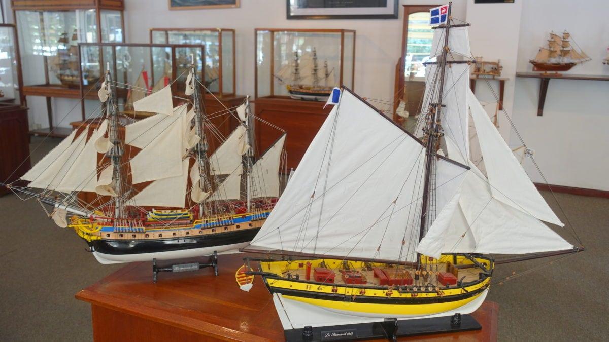 Segelmodellbauschiffe im Historic Marine auf Mauritius