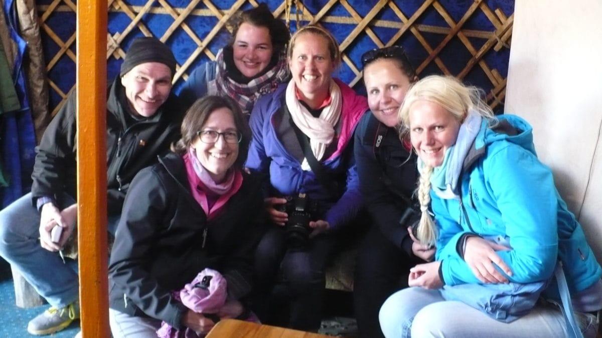 Zu Besuch in der Jurte in der Mongolei