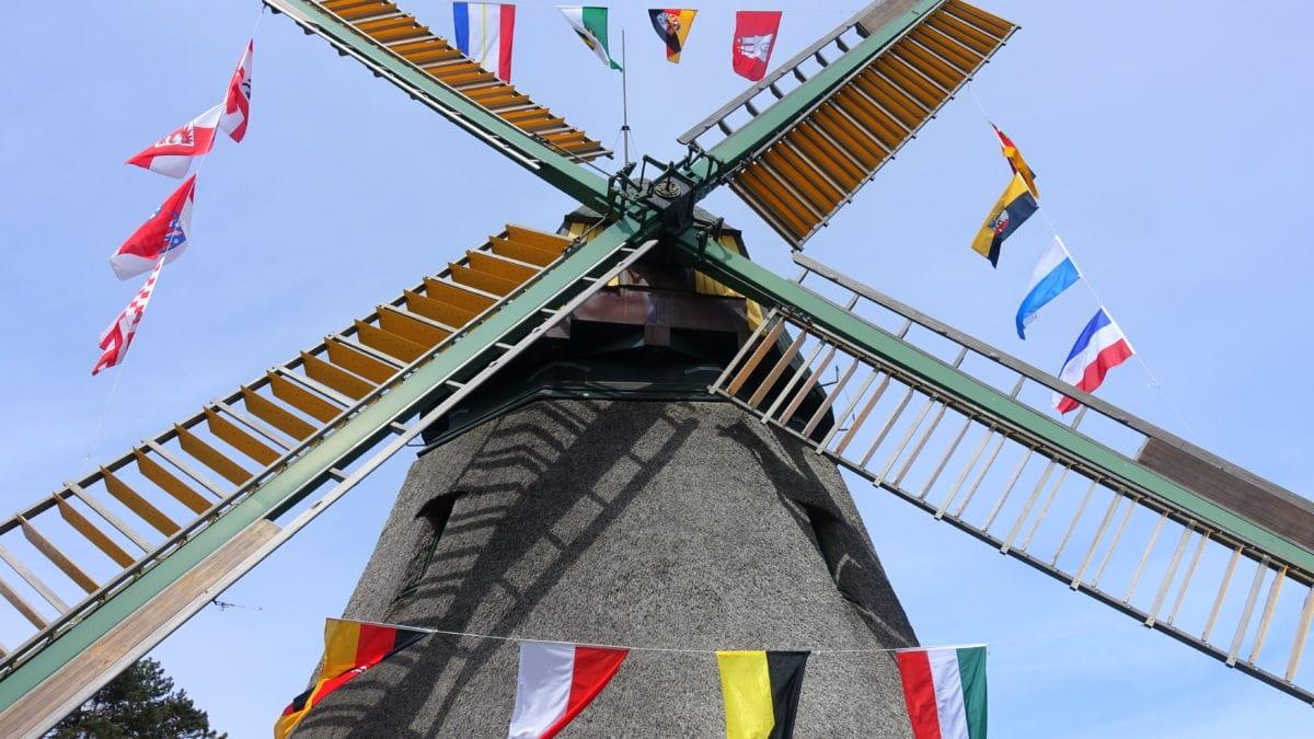 Mühle am Mühlentag auf Amrum