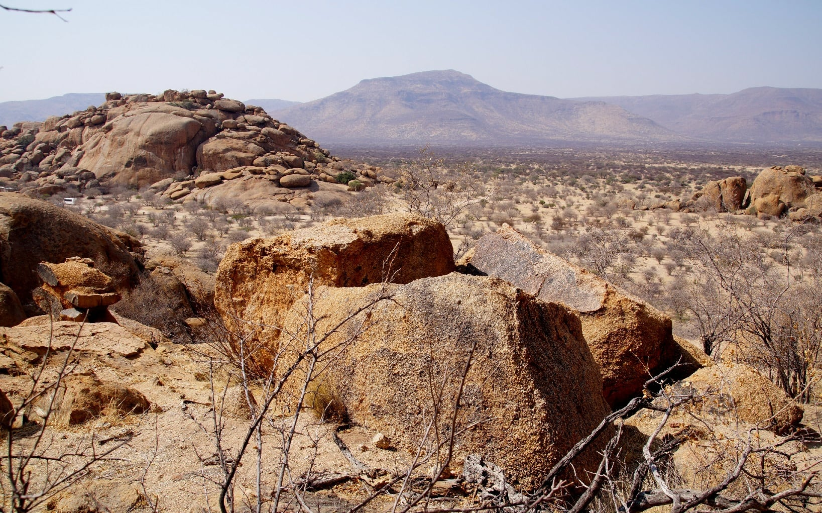 Das Erongogebirge in Namibia