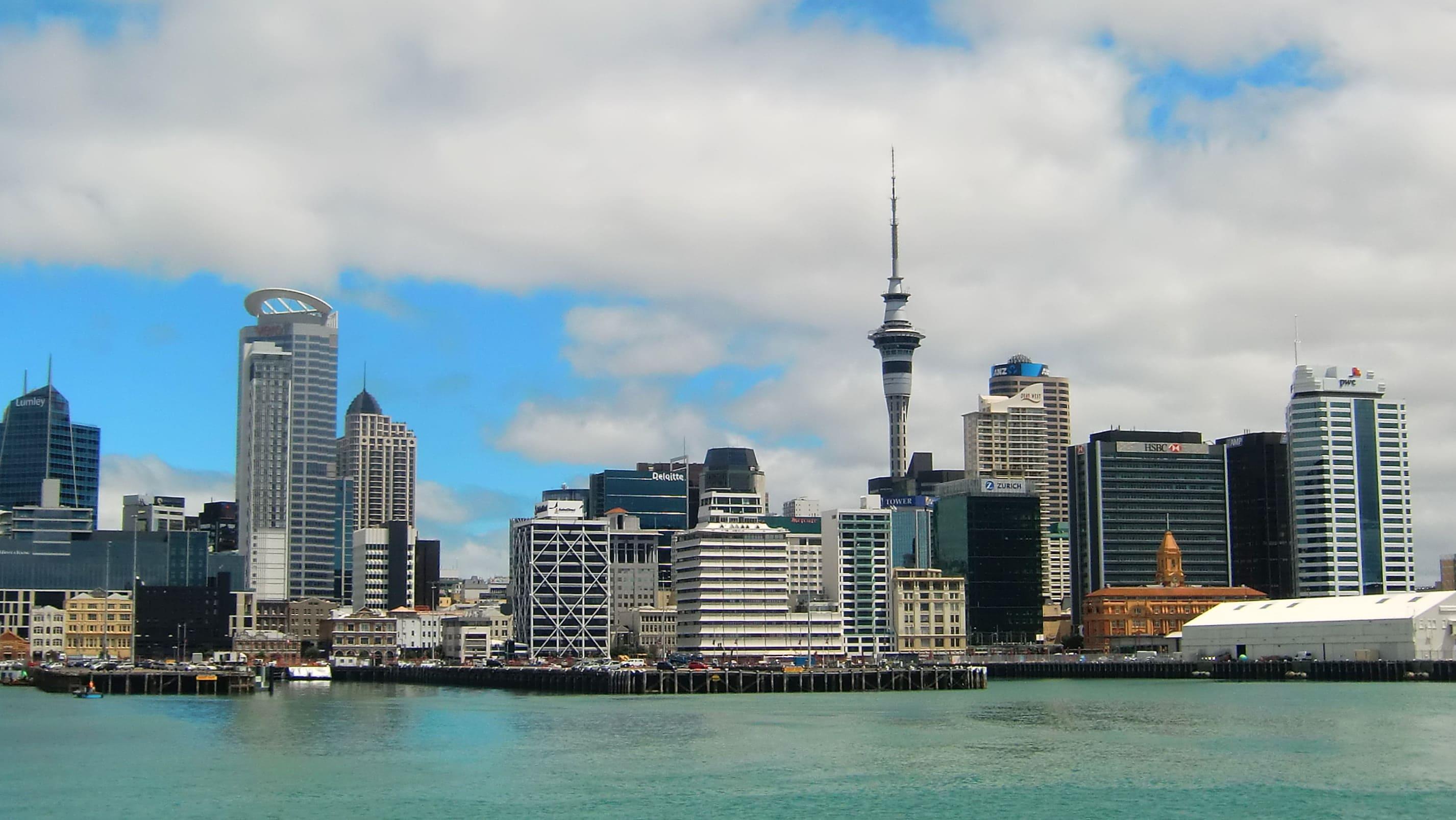 Die Skyline von Auckland in Neuseeland