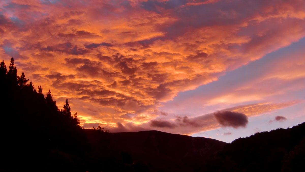 Sonnenuntergang in Neuseeland