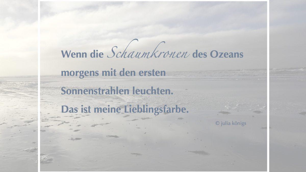 Ein kurzes Gedicht über das Meer und seine Farben