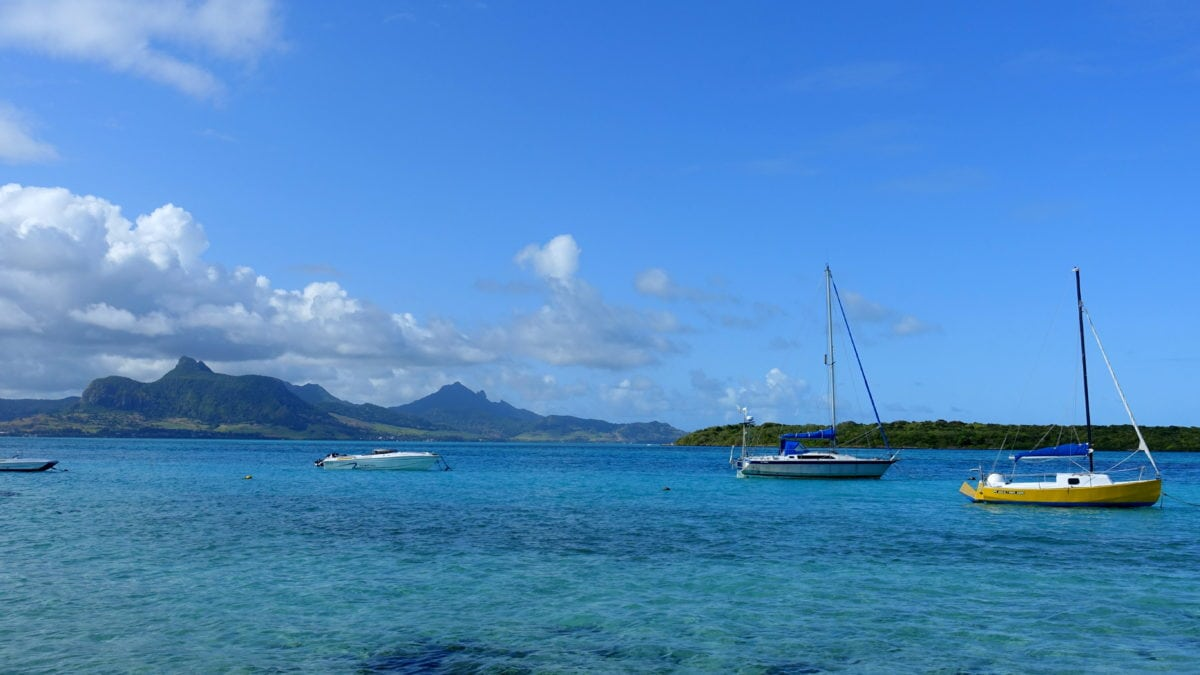 Meer vor Pointd'Esny in Mauritius
