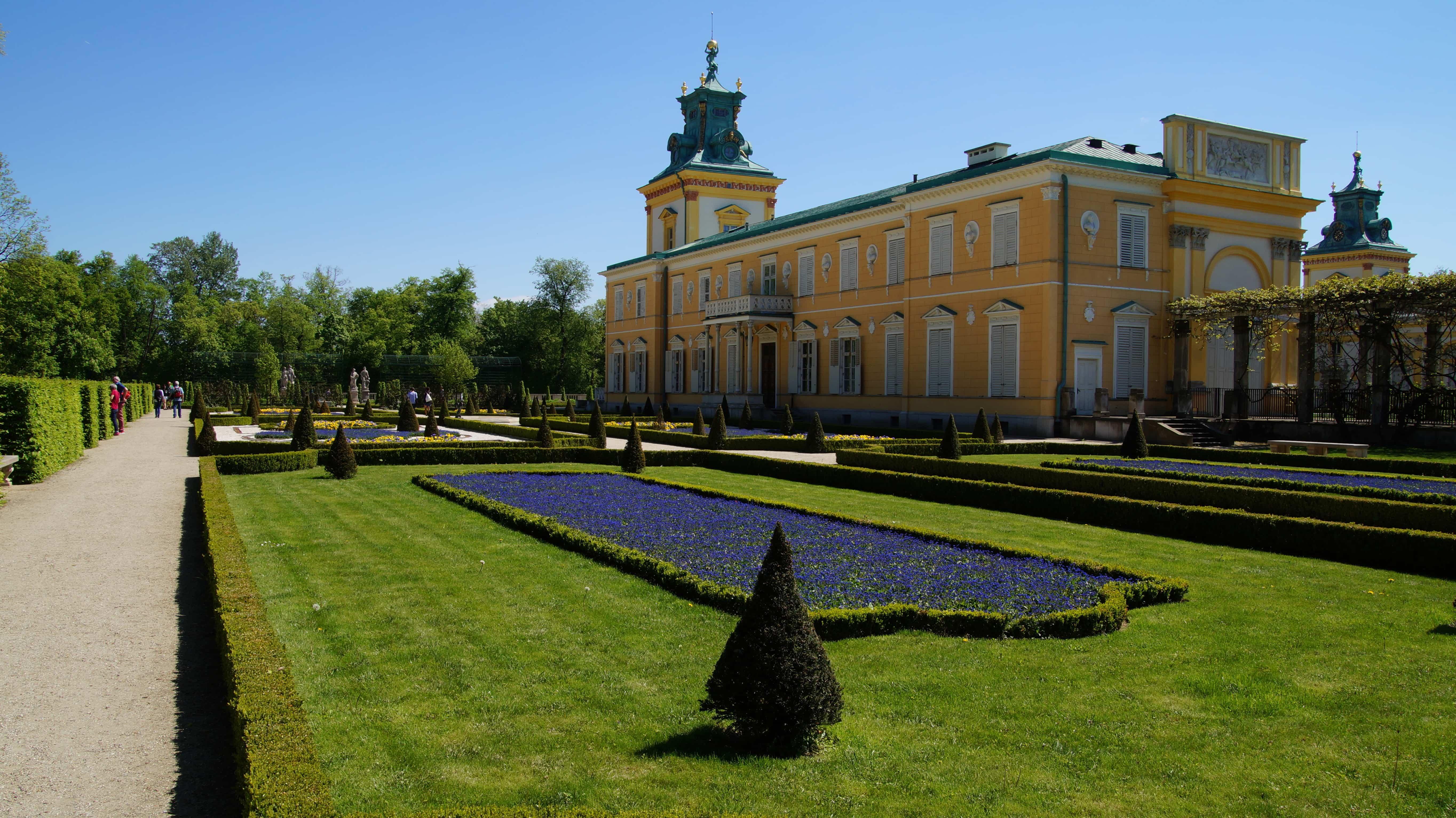 Ein Park in Warschau in Polen