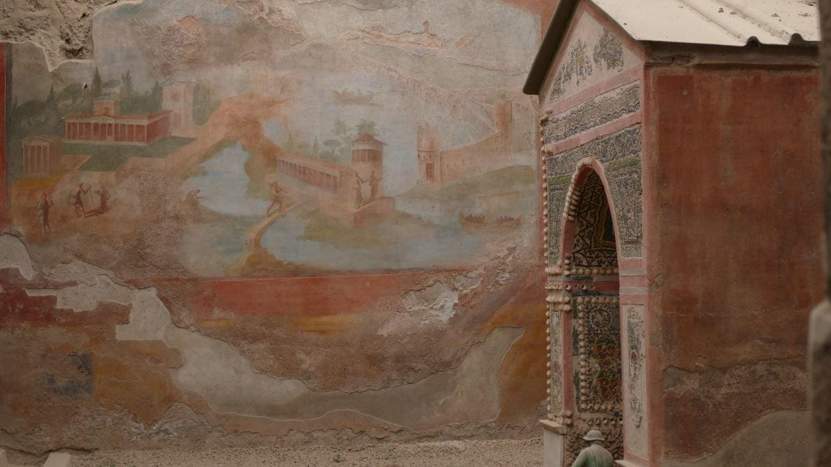 Ein Tempel in Pompeji