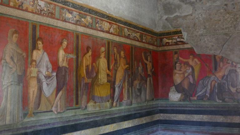 Fresko in der Villa dei Misteri in Pompeji