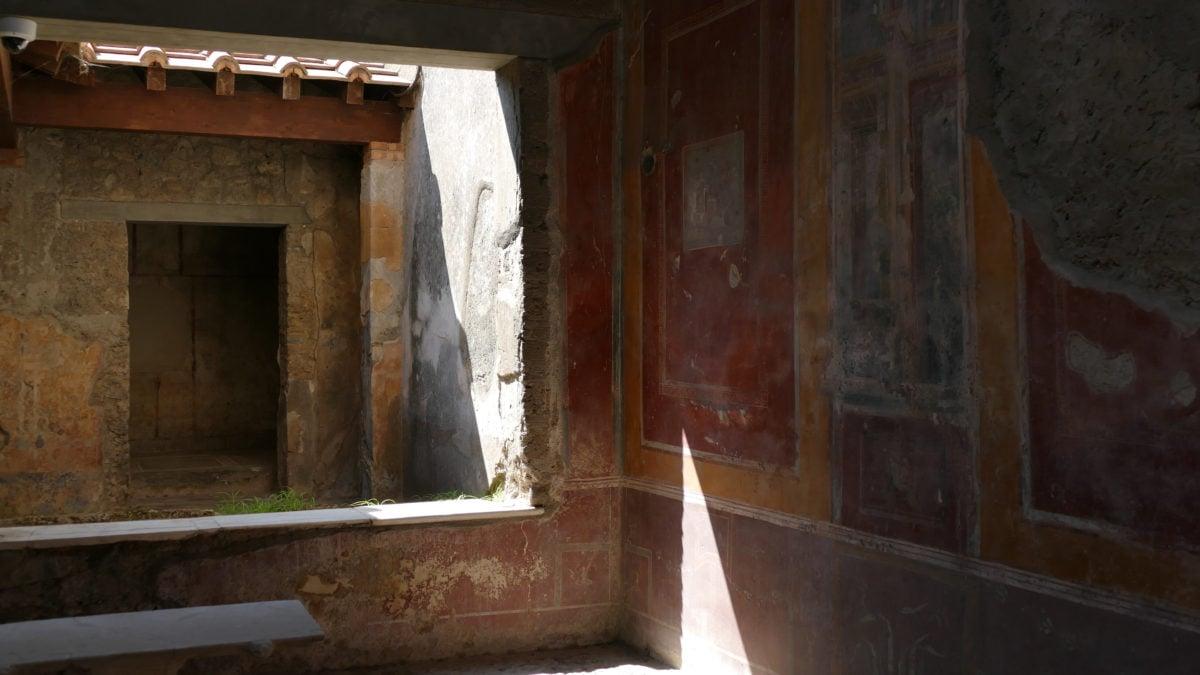 Ein Wohnhaus in Pompeji