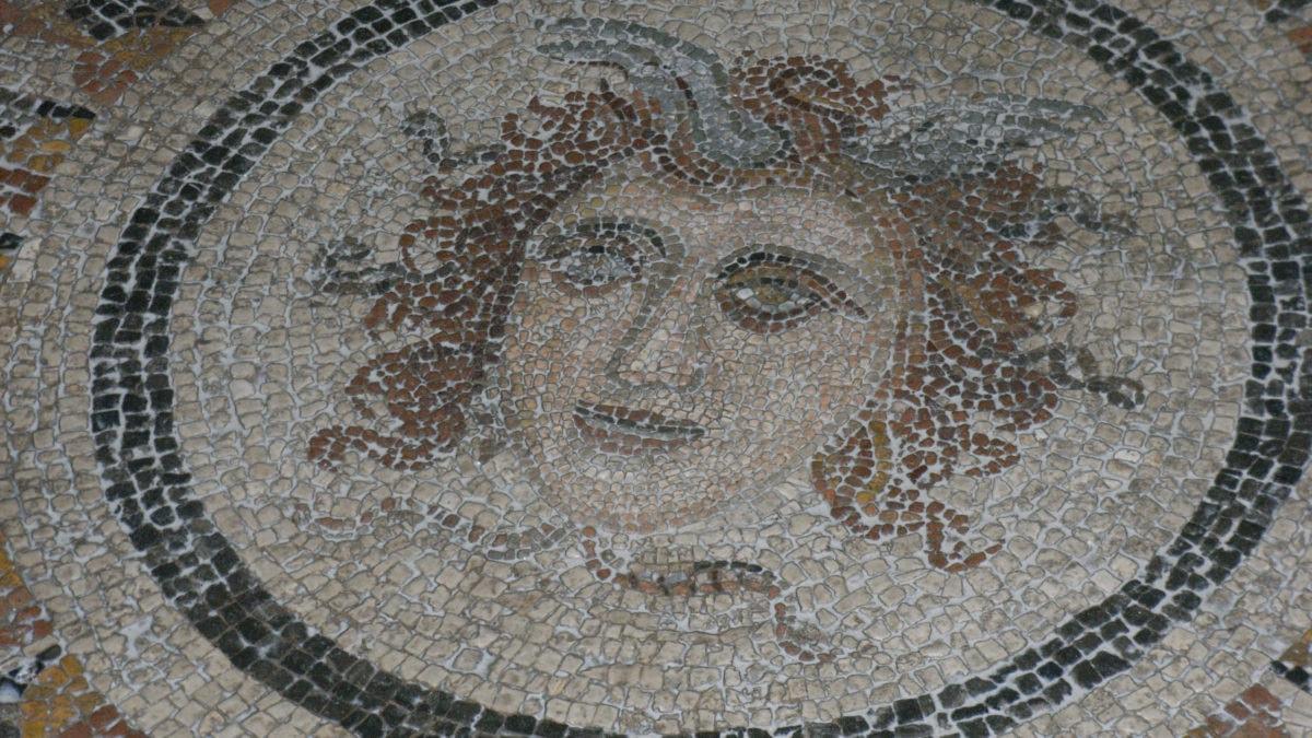 Mosaikboden im Großmeisterpalast
