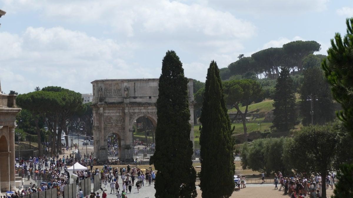 Zugang zum Forum Romanum in Rom