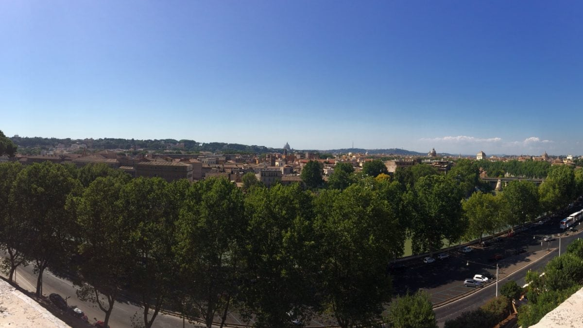 Panorama vom Orangengarten in Rom