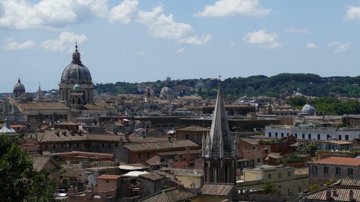 Aussicht vom Orangengarten über Rom und den Vatikan