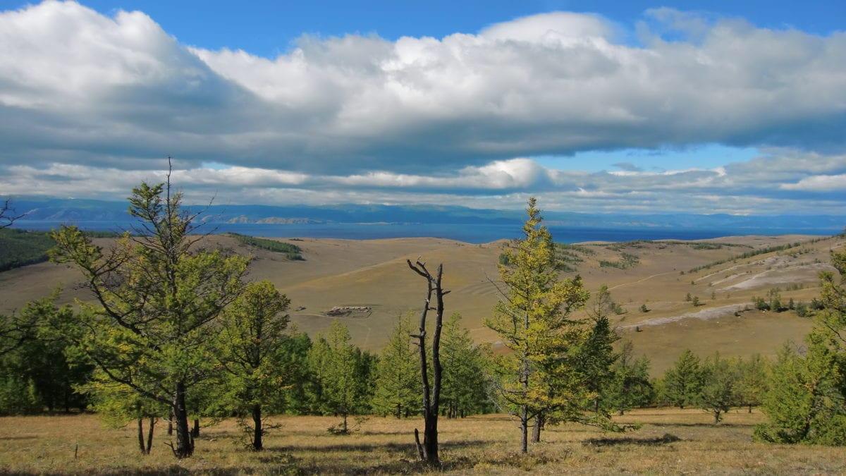 Die Tageran Steppe auf Olkhon Island im Baikalsee in Russland