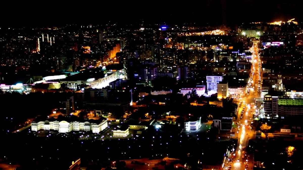 Blick aus dem 52. Stock auf Jekaterinburg