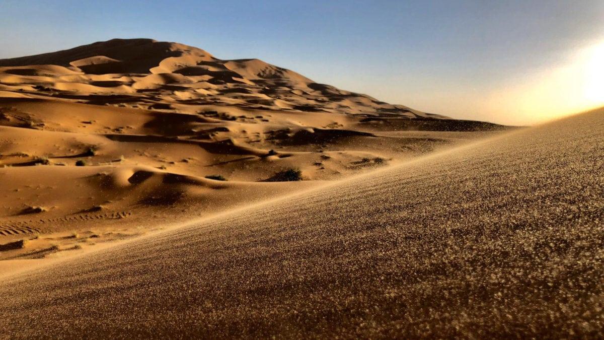 Sanddünen der Sahara Wüste