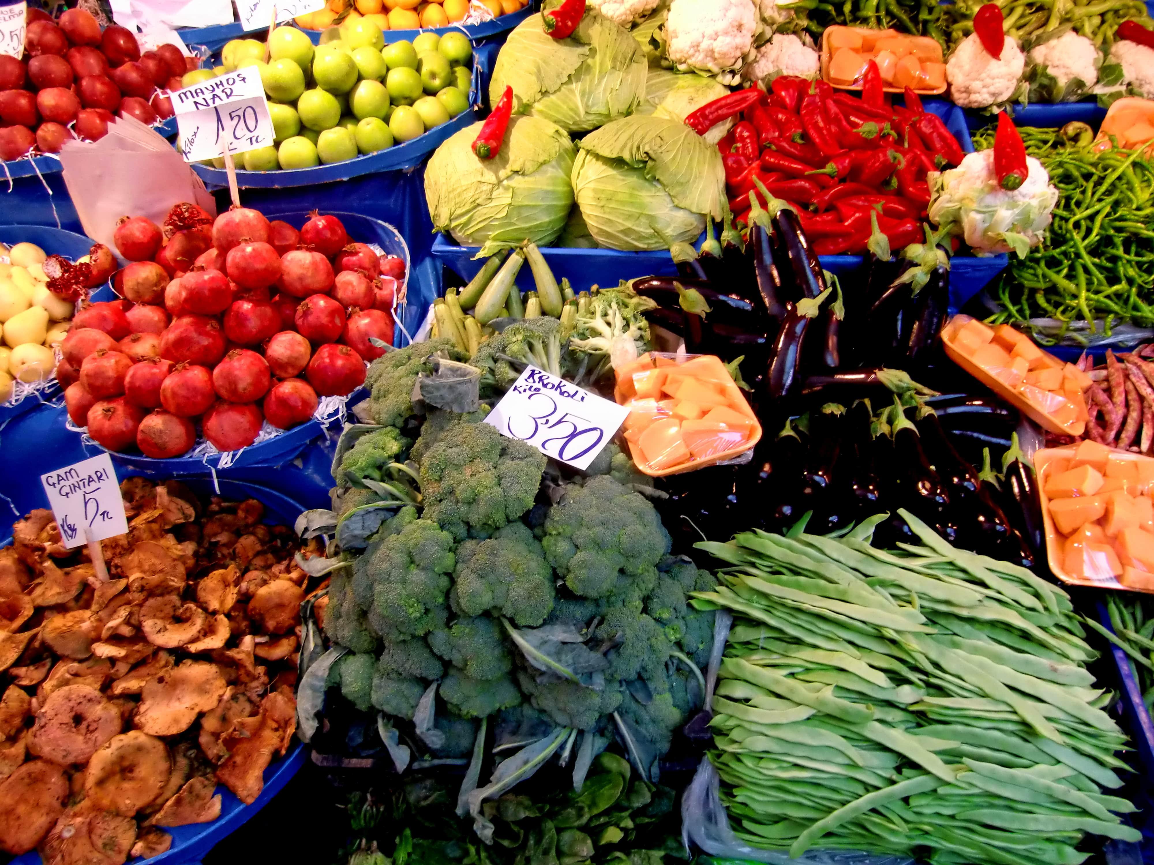 Gemüse auf einem türkischen Markt