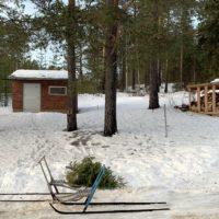 Sparks sind die beste Möglichkeit, um im Winter in Lappland in Schweden von A nach B zu kommen