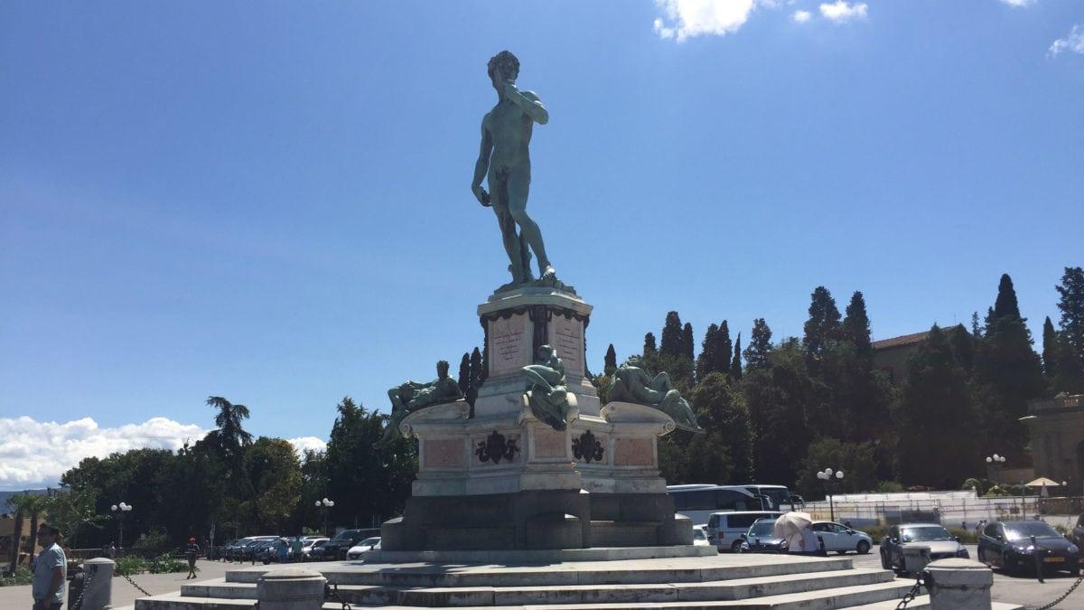 Statue Michelangelo in Florenz