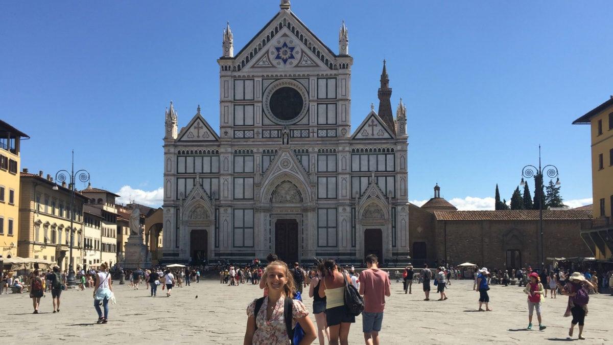 Kirchenplatz in Florenz