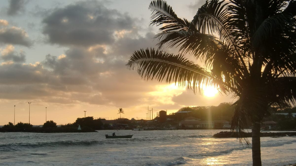 Sonnenuntergang in Le Vauclin auf Martinique