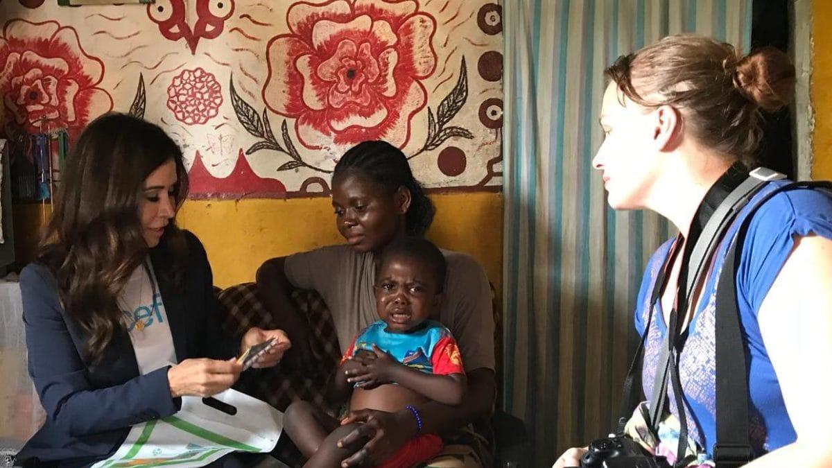 Susanne Stocker und Tessa Page von UNICEF im Kongo
