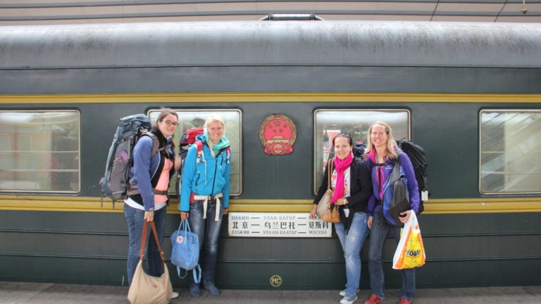Endlich am Ziel; Verena, Birte, Marie und Maria fahren mit der Transsibirischen Eisenbahn nach Peking