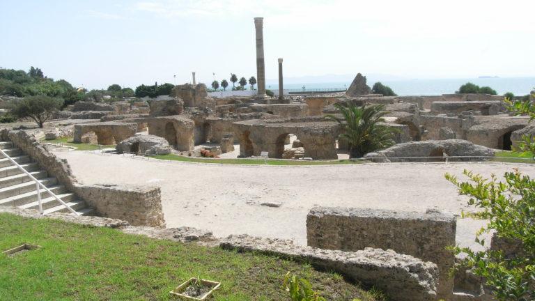 Die Ruinen von Karthago in Tunesien