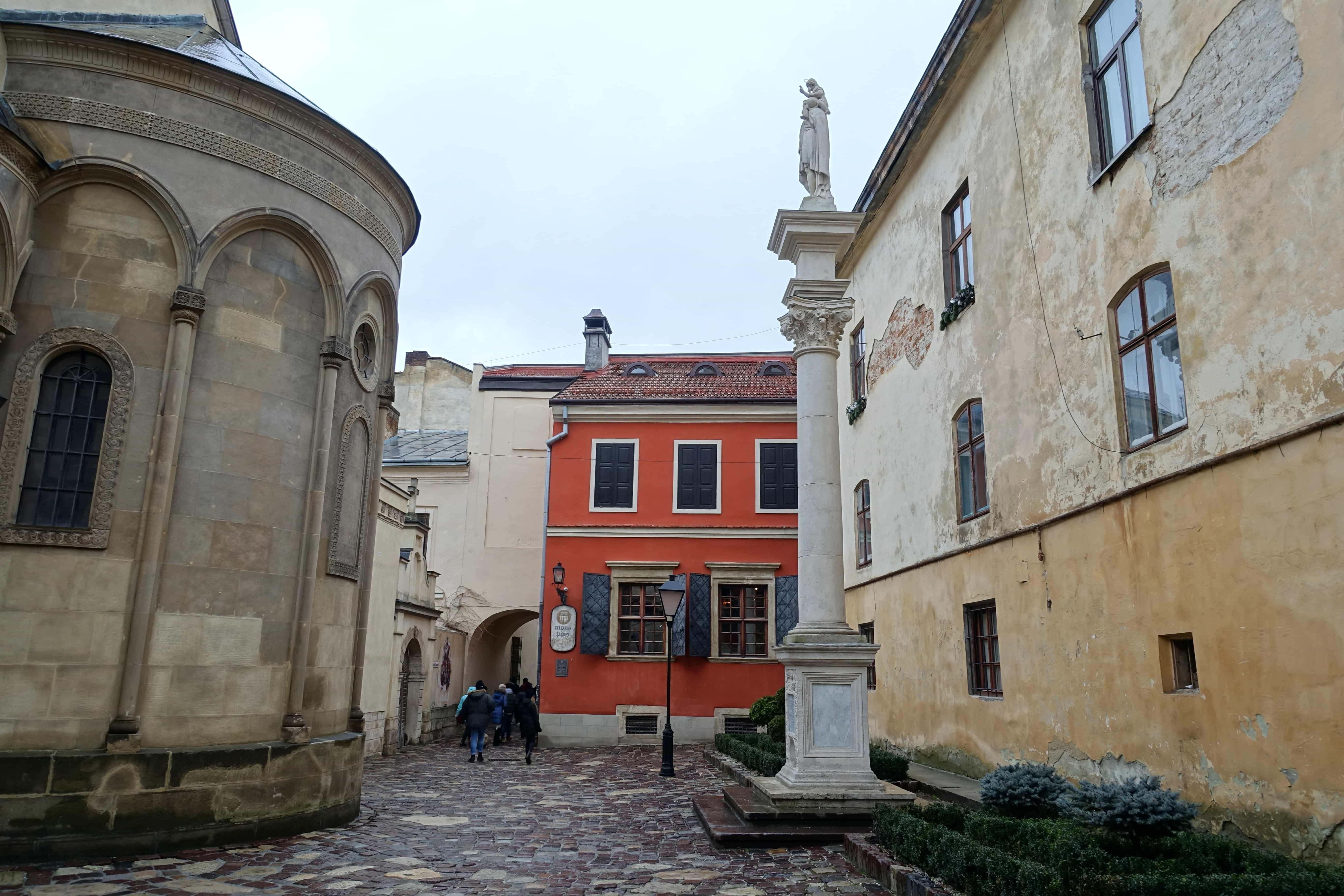 Häuser in Lviv in der Ukraine