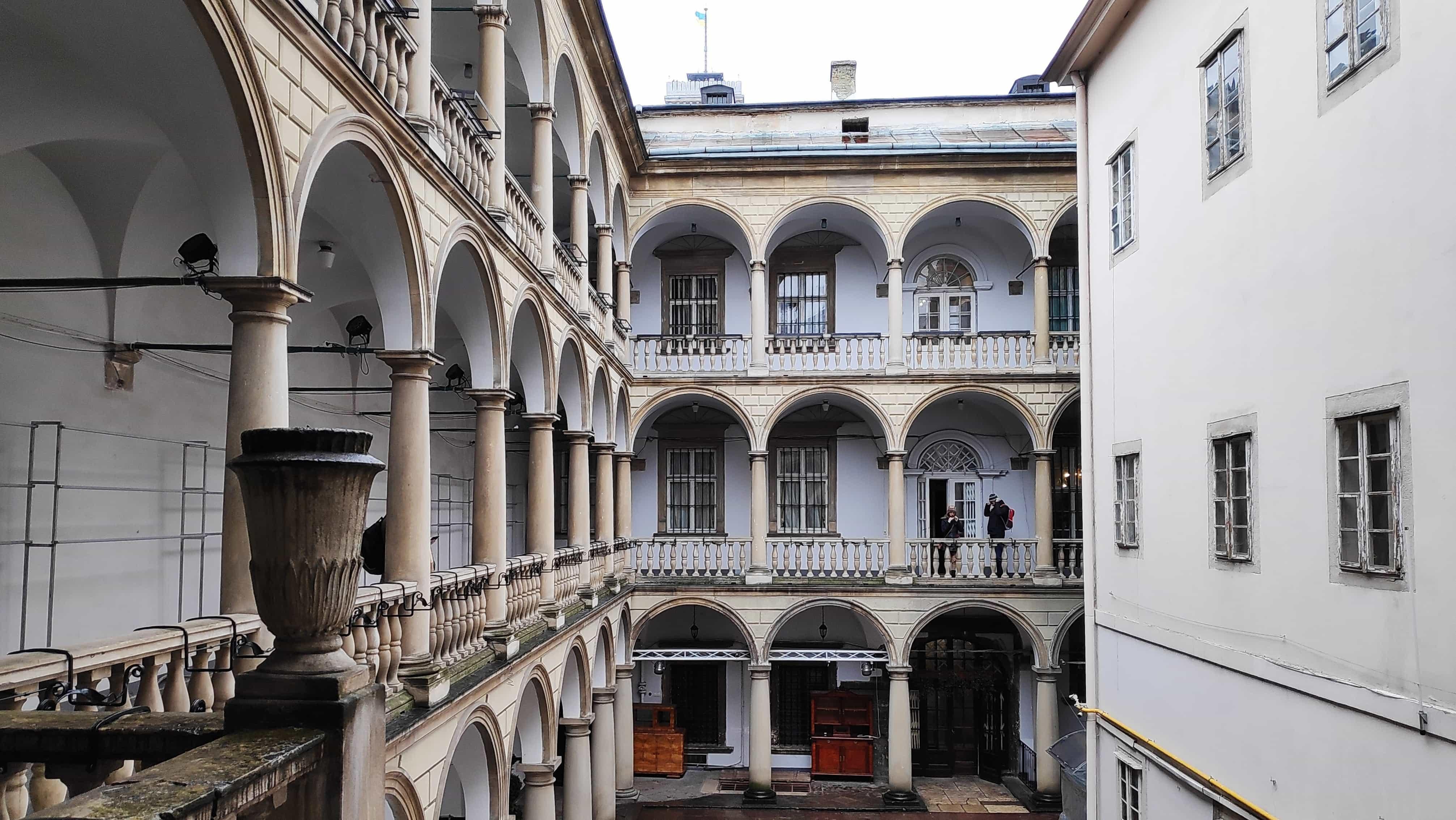Historisches Gebäude in Lviv in der Ukraine