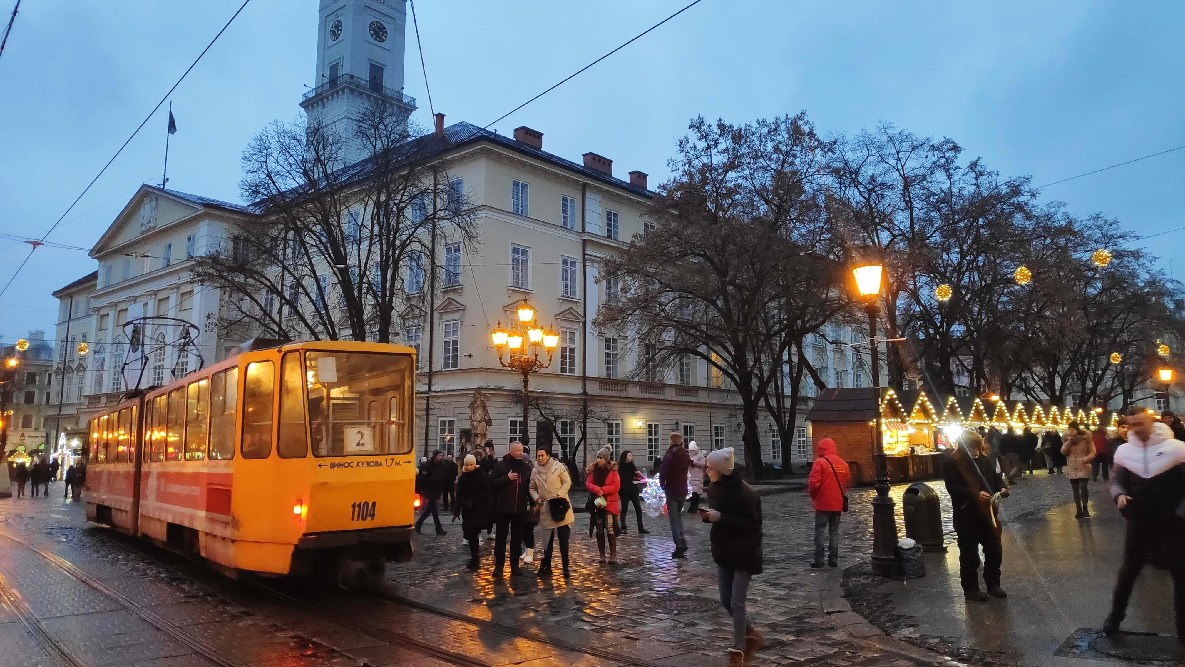 Straßenbahn in Lviv in der Ukraine