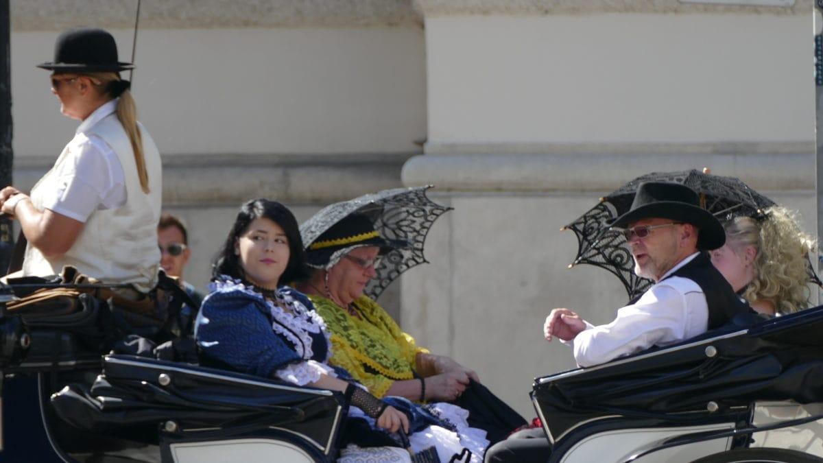 Kutschfahrer in Kostümen in Wien